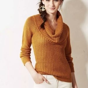 {M} Angel Of The North Mustard Cowl Neck Sweater